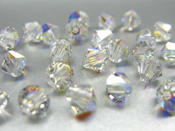 Swarovski Perlen Rhomben Bicone Doppelkegel 5 mm