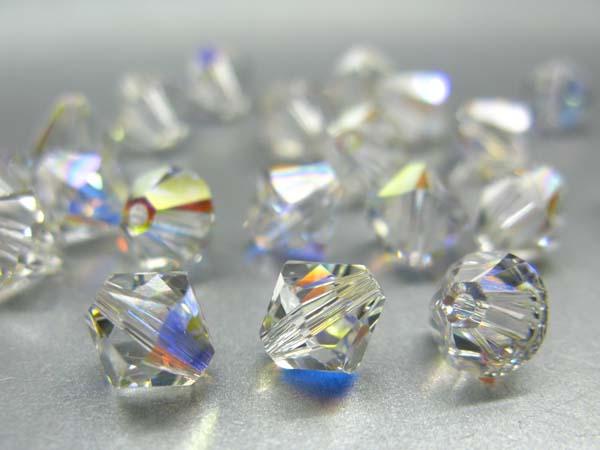Swarovski Perlen Rhomben Bicone Doppelkegel 6 mm