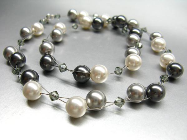Bastelset Halskette aus Swarovski Perlen