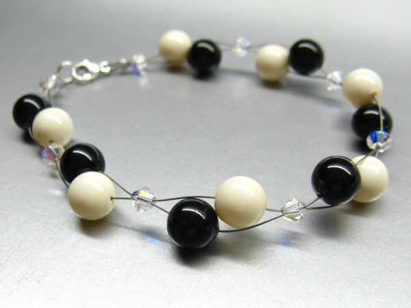 Bastelkit Armband aus Swarovski Perlen