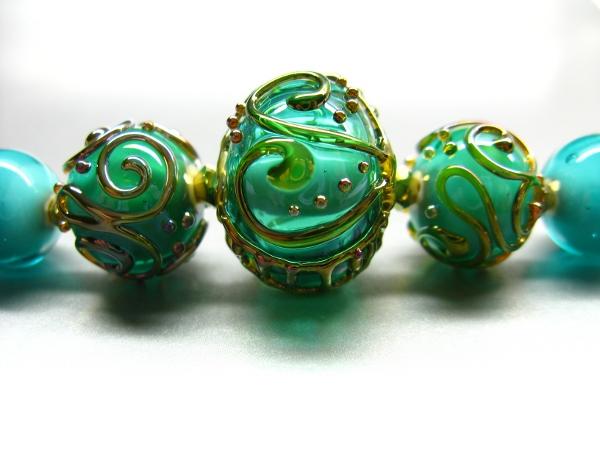 Handgefertigte Glasperlen Perlenset