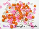 TOHO Rocailles 2,6 mm Rose & Sun & Crystal Mix (a)