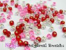 TOHO Rocailles 2,6 mm Rose & Red & Crystal Mix (a)