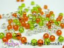 TOHO Rocailles 2,6 mm Green & Sun & Crystal Mix (a)