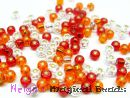 TOHO Rocailles 2,6 mm Red & Sun & Crystal Mix (a)