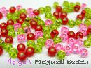 TOHO Rocailles 2,6 mm Rose & Red & Green Mix (a)