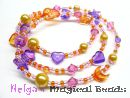 Bastelset: Kinderhalskette od. Armband in Gelb-Orange-Lila #1