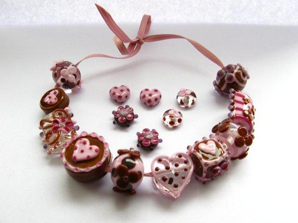 Halskette Unikatkette Swarovskisteine